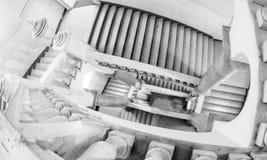 Escalier infini de musée italien photo libre de droits