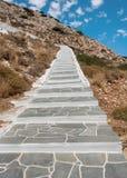 Escalier jusqu'au dessus de la colline Image libre de droits