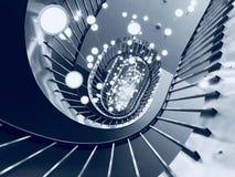 Escalier métallique de dessous le tir à un cabinet d'avocats photo libre de droits