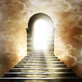 Escalier menant au ciel ou à l'enfer. Photos libres de droits
