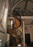 Escalier miraculeux de chapelle de Loretto en Santa Fe, Nouveau Mexique Images libres de droits