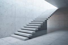 Escalier moderne dans l'intérieur concret Photos libres de droits