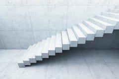 Escalier moderne dans l'intérieur concret images libres de droits