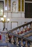 Escalier monumental de Palazzo Arese Litta à Milan image stock