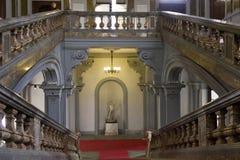 Escalier monumental du Palazzo historique Arese Litta photo stock