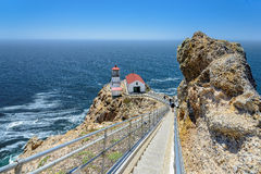 Escalier pour diriger Reyes Lighthouse Photographie stock libre de droits