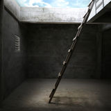 Escalier pour hors de la salle Images stock