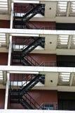 Escalier pour l'incendie Images libres de droits