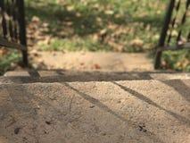Escalier rustique dans la chute Photos stock