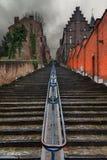 Escalier sinistre Liège de nuages photos libres de droits