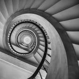 Escalier spiralé à Barcelone Photographie stock libre de droits