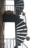 Escalier spiralé. Accès externe. image libre de droits
