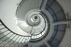 Escalier spiralé de phare Photographie stock