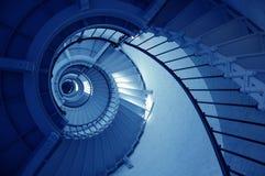 Escalier spiralé de phare de prise de Ponce de Leon Image libre de droits