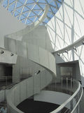 Escalier spiralé en musée de Dali Images libres de droits