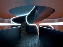 Escalier spiralé moderne (nuit) illustration stock