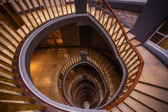 Escalier spiralé de marbre Photographie stock