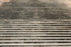 Escalier sur la côte de Capitoline à Rome Images libres de droits