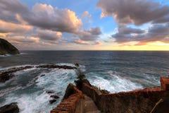 Escalier sur la mer Image libre de droits