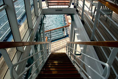 Escalier vers l'océan Images stock