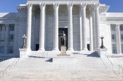 Escaliers à la construction de capitol. Image libre de droits