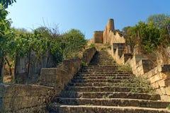 Escaliers à la forteresse de Naryn-Kala Derbent Image stock
