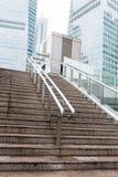 Escaliers à la passerelle Images stock