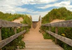 Escaliers à la plage Photo stock