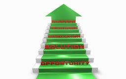 Escaliers à la réussite Image libre de droits