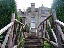 Escaliers à un château antique Photos libres de droits