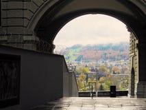 Escaliers à une vue Photos libres de droits