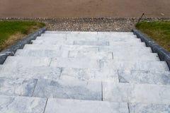 escaliers Abrégez les opérations Escaliers dans la ville Escaliers de granit Escalier en pierre souvent vu sur des monuments et d Photo libre de droits
