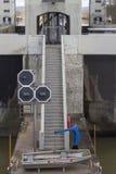 Escaliers au bateau de sauvetage Photographie stock