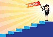 Escaliers au concept de succès Images libres de droits