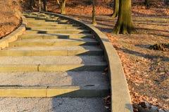 Escaliers au coucher du soleil Photos libres de droits