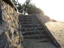 Escaliers au lever de soleil Images libres de droits