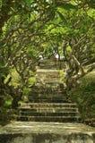 Escaliers au phare du KE GA, Vietnam, Phan Thiet Image libre de droits