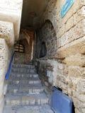 Escaliers au port de Jaffa Photos stock