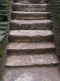 Escaliers au vieux royaume dans Sri Lanka Images libres de droits