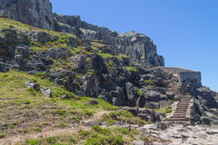 Escaliers aux falaises en plage de Torres Photographie stock libre de droits