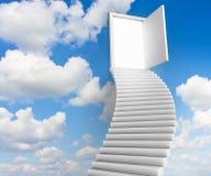 Escaliers aux trappes du ciel Photo libre de droits