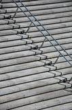 Escaliers avec des balustrades d'acier inoxydable Photographie stock