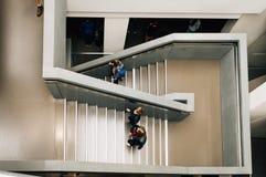 Escaliers avec des personnes Photographie stock