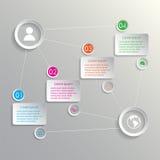 Escaliers avec des rectangles infographic Photos libres de droits