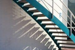 Escaliers bleus Photo libre de droits