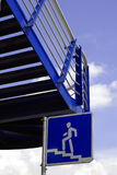 Escaliers bleus Photo libre de droits
