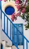 Escaliers bleus Image libre de droits