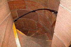 Escaliers circulaires médiévaux Photo stock