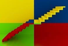 Escaliers colorés Images libres de droits