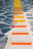 Escaliers colorés Photos stock